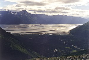 Turnagain Arm, the bottom tip of Cook Inlet ne...
