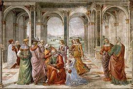 Domenico Ghirlandaio - Zacharias Writes Down t...