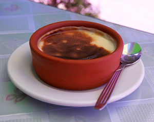 English: Baked Turkish rice pudding (firinda s...