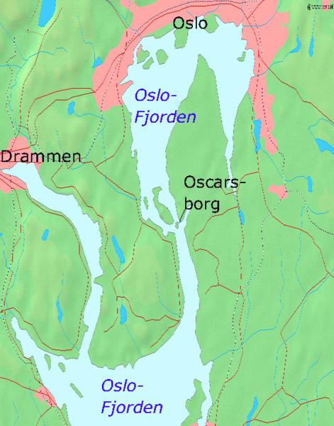 Oslofjord map