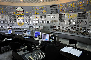 "English: Inside the control room of the ""..."