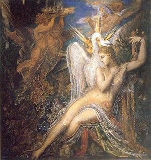 Leda, by Gustave Moreau