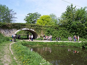 English: Northern end of Lancaster Canal still...