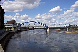English: The bridge over the River Oder at Fra...