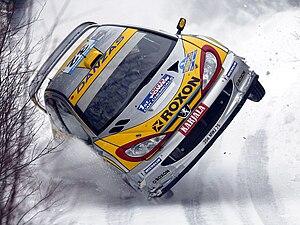 English: Juuso Pykälistö (FIN) in his Peugeot ...