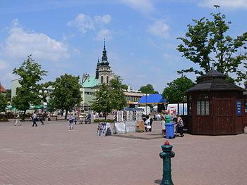 Photograph of Tarnobrzeg Main Square.