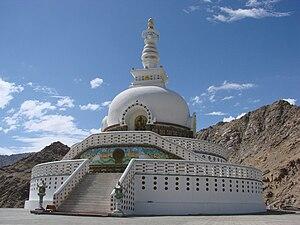 Shanti Stupa at Leh. This was built by the Jap...