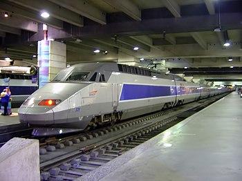 O TGV na estação de Montparnasse, em Paris