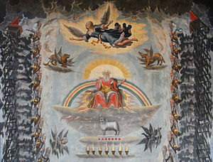 "Ceiling painting, Book of Revelation,""Wor..."