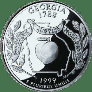 A Georgia U.S. quarter