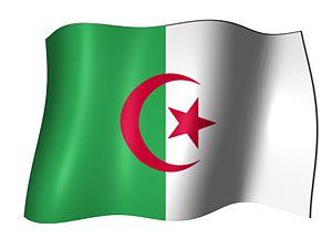 Popis: Alžírska vlajka + vietor Zdroj: Private...