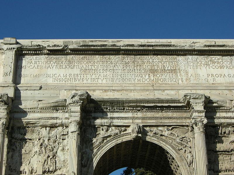 File:Arco di settimio severo iscrizione.JPG