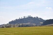 Schauenburger Burgberg mit rechts befindlichem Wald am Kleinen Schönberg