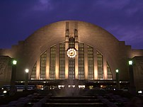 Cincinnati Union Terminal at Dusk