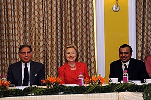 Secretary Clinton meets with India's business ...