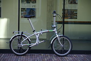 English: the beixo compact-7 folding bike in a...
