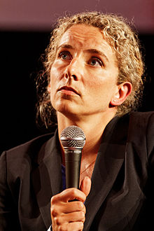 Delphine Batho lors d'un débat sur la transition écologique à l'Agora lors de la Fête de l'Humanité 2013.
