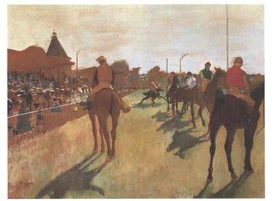 Degas - Vor den Tribünen