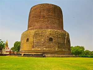 Dhamekh Stupa, where the Buddha gave the first...
