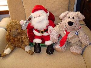 Dog the Teddy Bear (l) and Skip The Teddy Bear...