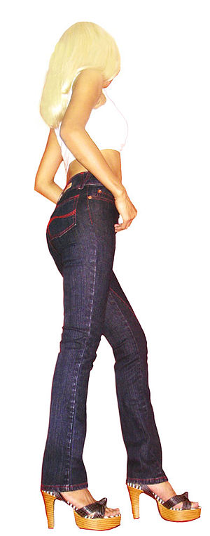 Ellecid Jeans, Mid Waisted, Twisted Seams, 2.5...