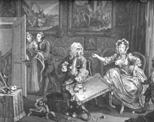William Hogarth's A Harlot's Progress, plate 2...