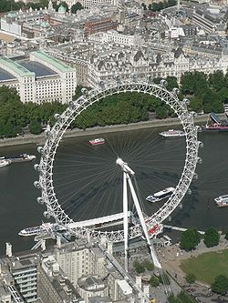 london eye di siang hari
