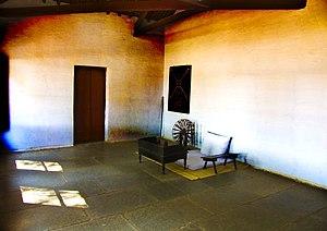 English: Mahatma Gandhi's room at Sabarmati As...