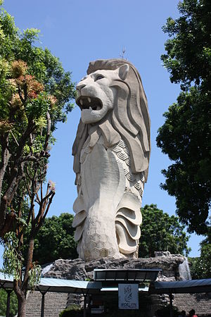 The Merlion Sentosa Island, Singapore by Wolfg...