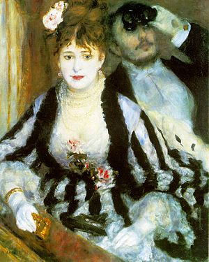 The Theater Box, 1874 by Pierre-Auguste Renoir...