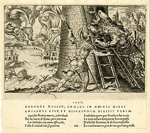 Sack of Rome. May 6, 1527. after Martin van He...