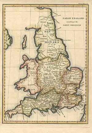 An 18th century map of Great Britain based on ...