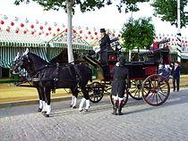 Carruaje de época transitando por la Feria.