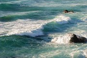 Waves breaking at Porto Covo, west coast of Po...