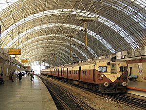 MRTS Train station in Chennai