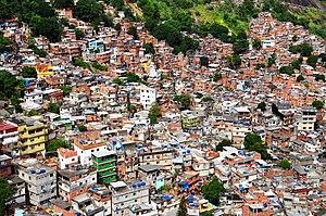 English: inside rocinha favela rio de janeiro ...