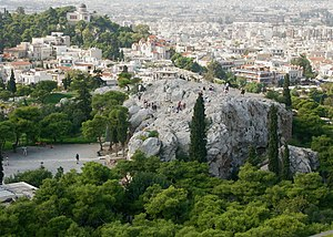 Areopagus from the Acropolis (Athens)