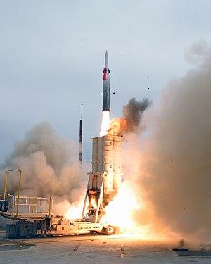 Arrow anti-ballistic missile system, developed...