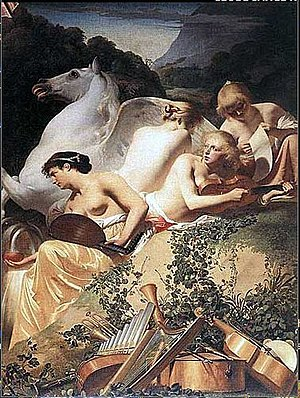 Four Muses, by Caesar van Everdingen