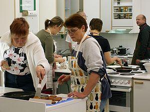 English: Finnish adult education centre, healt...