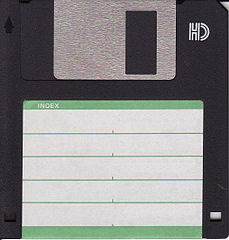 3.5 inch floppy disk (top side)