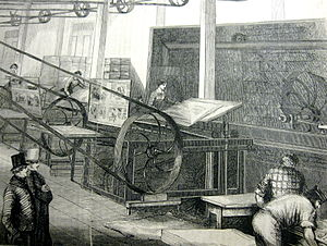 English: Gleason's printing operation, in: Gle...