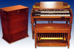 Hammond B3 con Leslie 122 (taken by the author)