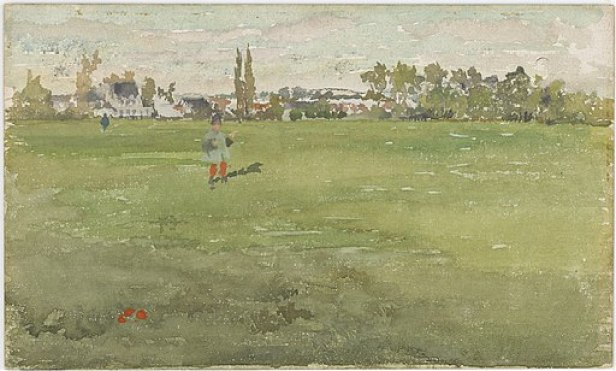 James McNeill Whistler - Green and Silver- Beaulieu, Touraine