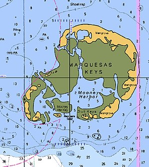 English: Map of Marquesas Keys, Florida.