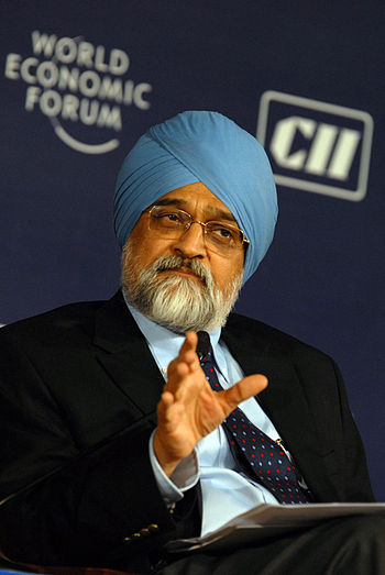 English: Montek S. Ahluwalia, Deputy Chairman,...