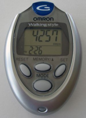 English: Pedometer omron HJ-112 user review