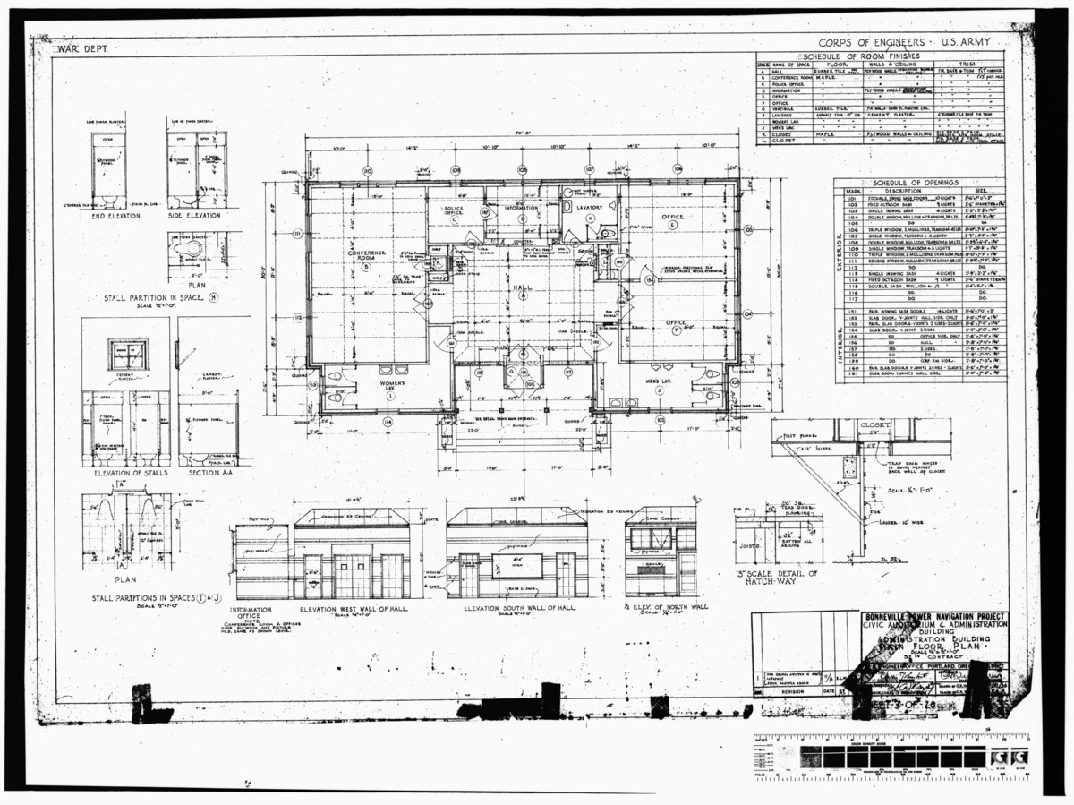 File Photocopy Of Original Construction Drawing Dated