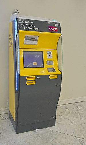 A SNCF ticket machine in Orly International Ai...