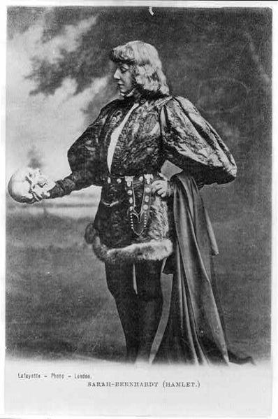 Sarah Bernhardt as Hamlet, ca. 1885-1900